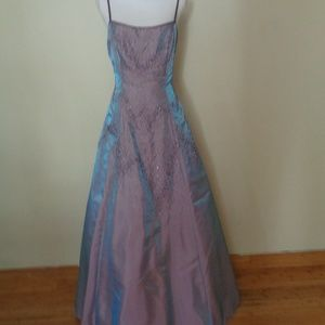 Sue Wong purple gown dress 12 beaded